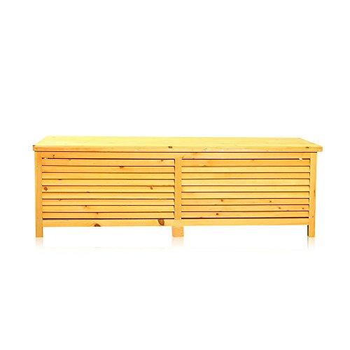 Beliebt Holz Auflagenbox Kissenbox Gartenbox Gartentruhe Box Auflagen UX44