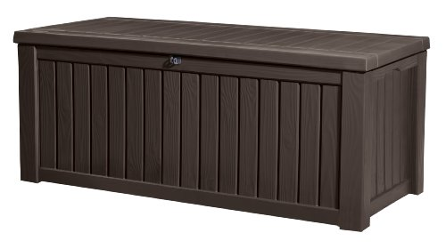 keter kissenbox rockwood braun 570l - Keter Kissenbox Rockwood, Braun, 570L